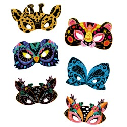 Scratch art masques animaux