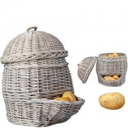 Panier pommes de terre gris