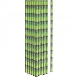 Pailles en papier bambou x24