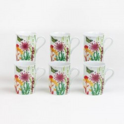 Coffret de 6 mugs tutti fiori